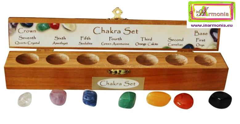set pietre per chakras